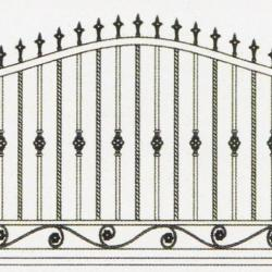 Wrought Iron Railing (Normal) 009