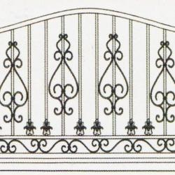 Wrought Iron Railing (Normal) 011