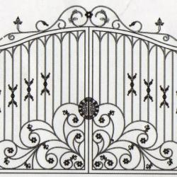 WG 001 Wrought Iron Main Gate
