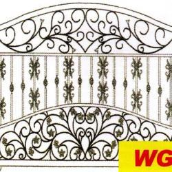 WG 005 Wrought Iron Main Gate