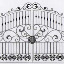 WG 007 Wrought Iron Main Gate