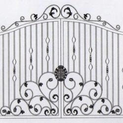 WG 008 Wrought Iron Main Gate