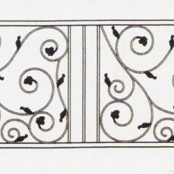 Wrought Iron Balcony Railing (Curve) 001
