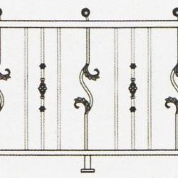 Wrought Iron Balcony Railing (Curve) 002