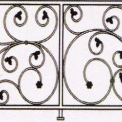 Wrought Iron Balcony Railing (Curve) 003