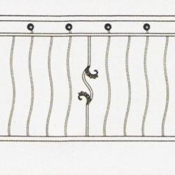 Wrought Iron Balcony Railing (Curve) 005