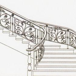 Wrought Iron Balcony Railing (Curve) 016