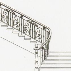 Wrought Iron Balcony Railing (Curve) 017