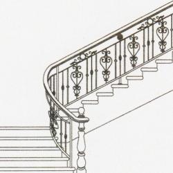 Wrought Iron Balcony Railing (Curve) 018