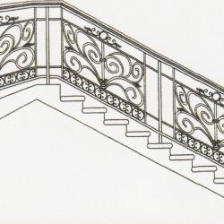Wrought Iron Balcony Railing (Curve) 019