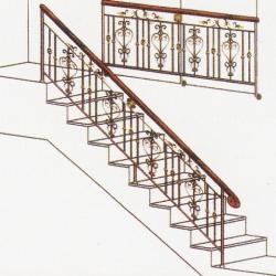 Wrought Iron Balcony Railing (Curve) 021