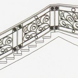 WR 020 Wrought Iron (Staircase)