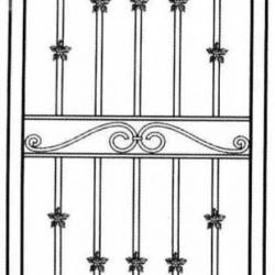 Wrought Iron (Door) 002