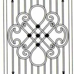 Wrought Iron (Door) 004