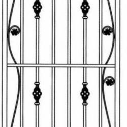Wrought Iron (Door) 005