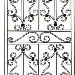 Wrought Iron (Door) 008