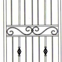 Wrought Iron (Door) 009