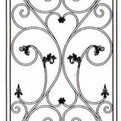 Wrought Iron (Door) 010